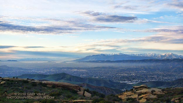 Simi Valley and the Topatopa Mountains
