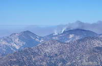 Station Fire burning on Waterman Mountain the morning of September 7, 2009