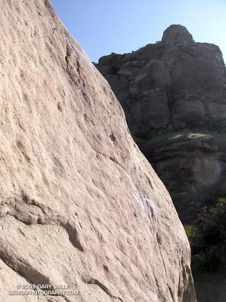 Stoney Point, a bouldering and top-rope climbing area in Chatsworth, California, northwest of Los Angeles.