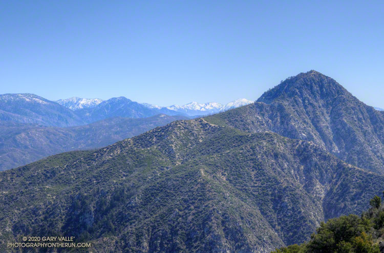 Strawberry Peak and the San Gabriel Mountains high country