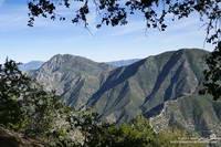 Strawberry Peak and Mt. Lawlor from San Gabriel Peak.