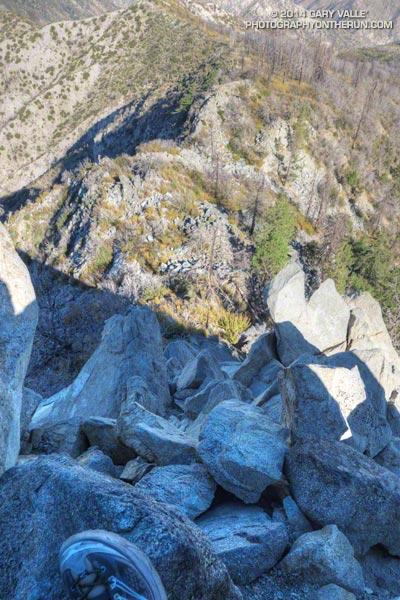 View down west ridge of Strawberry Peak