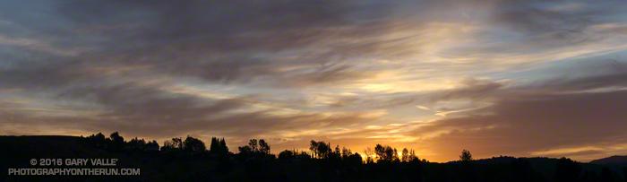 Sunrise on the way to Cheeseboro Ridge.