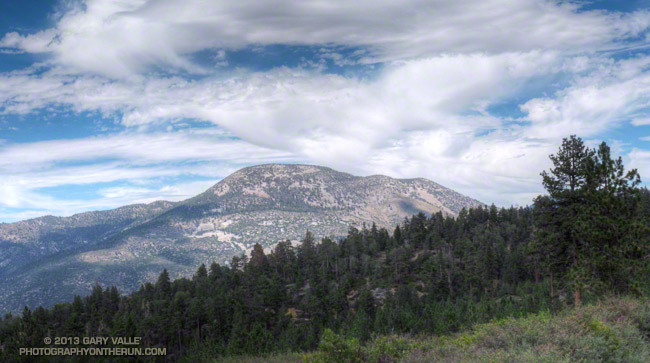 Sugarloaf Mountain from the South Fork Trail just above Horse Meadows, on the way down from an ascent of San Gorgonio Mountain