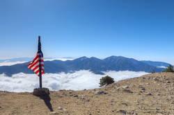 Summit of Mt. Baden-Powell. May 16, 2021.