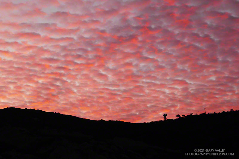 Colorful sunrise in the eastern Santa Monica Mountains