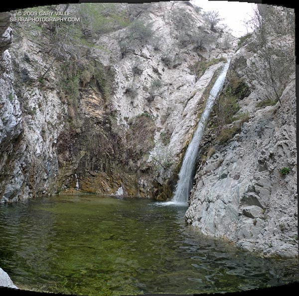 The pool at the bottom of Switzer Fall, on Arroyo Seco creek in the San Gabriel Mountains, near Los Angeles. March 21, 2009.