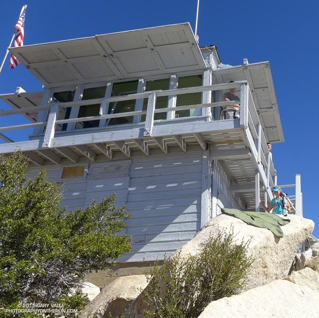 The Tahquitz Peak Fire Lookout. The lookout operated continuously from 1917-1993, and is listed in the National Historic Lookout Register. It reopened in 1998 and is manned by volunteer Fire Lookout Hosts.
