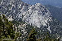 Tahquitz Rock from the Wellman Divide Trail
