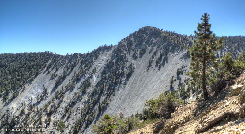North face of Telegraph Peak from the north side of Thunder Mountain.
