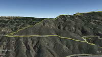 Googlr Earth view of Topanga Lookout Ridge