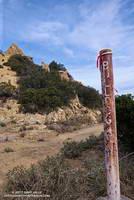 Top of the Bulldog climb in Malibu Creek State Park.