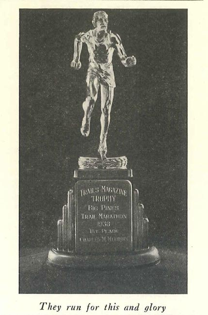 The Trails Magazine Big Pines Trail Marathon 1938 first place trophy. Photo from Trails Magazine, courtesy of the Los Angeles County Department of Parks and Recreation.