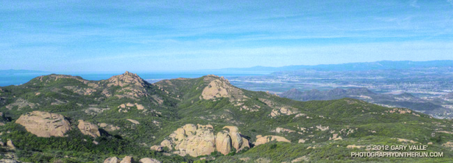 TriPeaks and Big Dome from Sandstone Peak