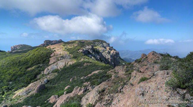 Ridge near summit of Tri Peaks
