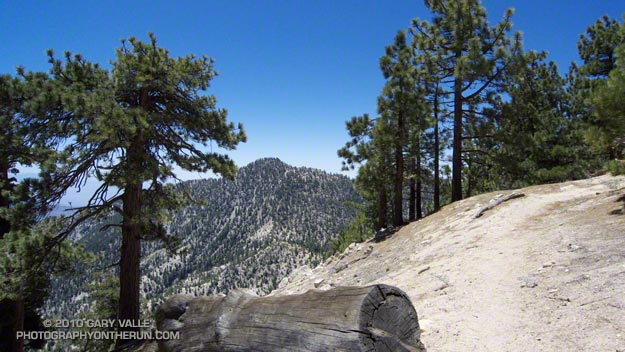 Twin Peaks (East) from the Mt. Waterman Trail