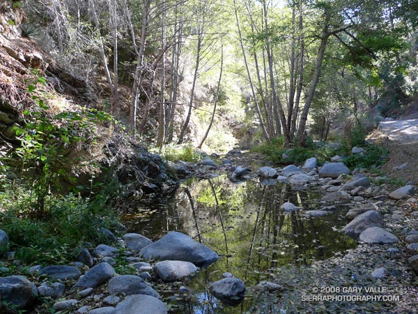 The West Fork San Gabriel River at the Rincon-Edison road crossing.