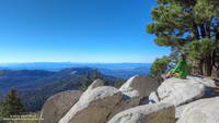 Tahquitz Peak and the mountains beyond, from Wellman Divide