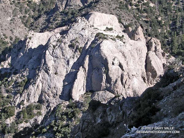 Williamson Rock in the San Gabriel Mountains, near Los Angeles.