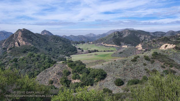View west from the Lookout Trail to the former site of the Reagan Ranch.