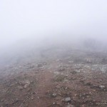 In a cloud, on Boney Mountain's Western Ridge