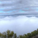 Layers of clouds from the summit of Sandstone Peak