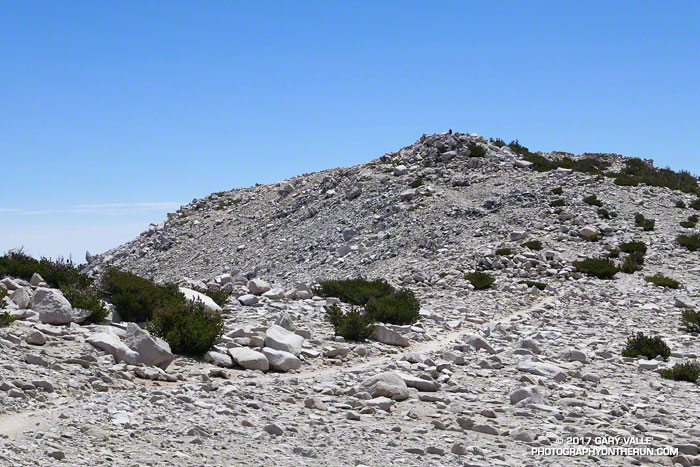 The final section of trail leading to the summit of 11, 499' San Gorgonio Mountain